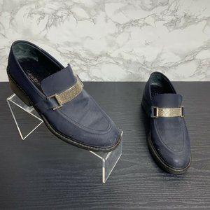 Calvin Klein Womens 7 Blue Slip On Loafers Career